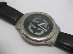 Men's Relic Wrist Watch Leather Band ZR90500 w/ Fresh Battery Works Quartz