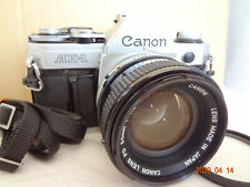 Canon AE-1 35mm SLR Camera with FD 50mm/f1.4SSC lens,strap from Japan Exc+++2349