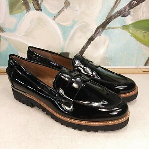 Franco Sarto Women's Shoes Platform Black Patent Moccasin Size 7.5 SKU#7962