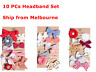 10PCs Set Handmade Kid Newborn Baby Toddler Girls Cotton Bow Headband Headwrap