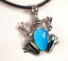 Ketten Edelstahl Anhänger Amulett Frosch Blau Katzenauge stein , silber farben