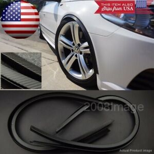 "4 Pieces 47"" Black Carbon Arch Wide Body Fender Extension Lip For  Honda Acura"