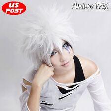Reborn Byakuran Short White Hair Fashion Stylish Layered Men Anime Cosplay Wigs