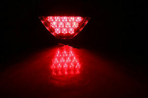 12V Car F1 Style Triangle 12LED Rear Stop Tail Safety Brake Light Lamp RED
