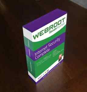WEBROOT INTERNET SECURITY COMPLETE 5PC  1 YEAR