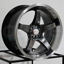 17x8 XXR 555 5x100/5x114.3 35 Chromium Black ML Wheel Rim set(4)
