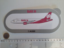 STICKER AIRBUS AUTOCOLLANT A320 GOAIR.IN AIRLINES AUFKLEBER INDE INDIA BOMBAY