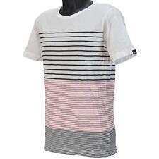 Oakley PRIMARY CREW STRIPE 1 T-Shirt Size M Medium Coral Mens Cotton Tee