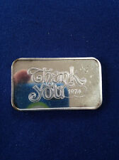 1974 Crabtree Mint Thank You 1974 CT-10 Silver Art Bar P1259