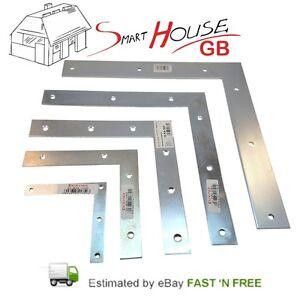 SMALL/LARGE STEEL FLAT RIGHT ANGLE BRACKET L Shape Corner Repair Brace Plate