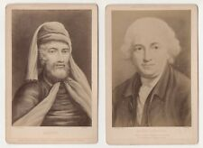 Bruckmann's Collection - Two Original Antique Cabinet Cards  .