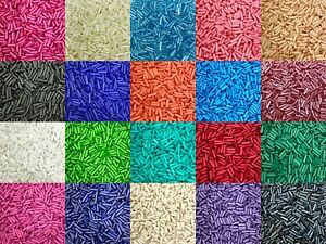 50g glass bugle beads - Opaque & Lustered, approx 6mm tubes - choice of colours