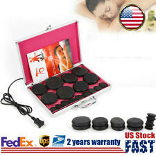 16Pc Hot Massage Stone Set Heater Stone Therapy Spa Relax Health Volcanic Stones