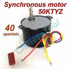 Synchronous Motor 50KTYZ AC 110V 120V 50/60Hz 40r/m CW/CCW 6W 2.2kgf.cm