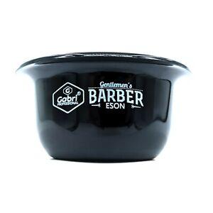 Gabri Professional Barber's Small Black Shaving Bowl Shave Mug Arko Brush Soap