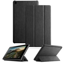 Fire 7 (2019) Tablet Case Synthetic Leather Stand Cover w/Auto Sleep/Wake Black