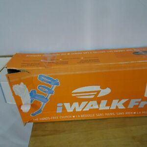 iWALKFree Hands-Free Crutch Stable Beam Locking Tray Padded Straps