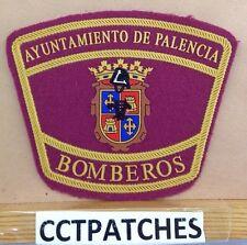 AYUNTAMIENTO DE PALENCIA, SPAIN BOMEROS FIRE & RESCUE PATCH