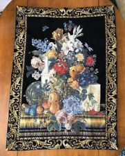 French Country Wall Hanging Tapestry Flowers Tapisseries du Lion Flowers Fleurs