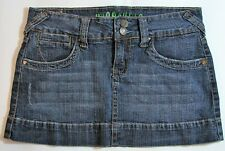 Hydraulic Short Denim Skirt Women's Distressed Blue Jean Size 5/6
