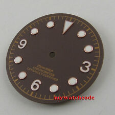 30.4mm coffee dial rose golden marks Watch Dial for 2824 2836 Movement D51
