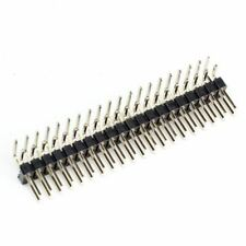 "Break-away 0.1"" Right Angled 40pin (2x20-pin) Strip Dual Male Header"