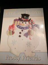 Fitz And Floyd Frosty Friend Canape Tidbit Tray 2005 in original box