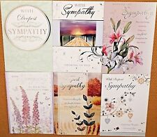 Pack of 6 Sympathy Cards Condolance Mourning Bereavement Sorry for your Loss /s4