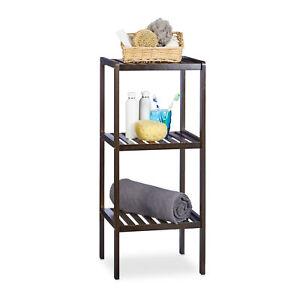 Bamboo Bath Rack Freestanding Bathroom or Kitchen Shelves Wooden Furniture Brown