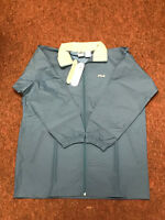 Fila Retro Vintage Lightweight Hooded Festival Waterproof Jacket Coat Blue Large