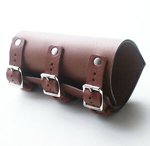 Brown Leather Vambrace Gaunlet Cuff Wristband Steampunk Reenactment Arm Guard