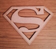 Superman logo plaque shape, 3 Mm MDF craft Blank