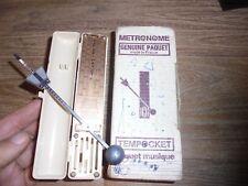 Ancien Petit Métronome en Boite Carton TEMPOCKET Paquet Musique Etat de Marche