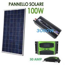 Kit Fotovoltaico 1 Kw Giornaliero Pwm Inverter 3000w Isola Solare Pannello 100W