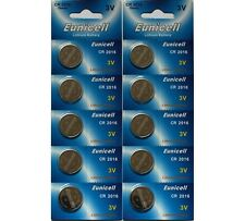 10 X EUNICELL CR2016 R2016 DL2016 2016 3LITHIUM BUTTON / COIN CELL BATTERY