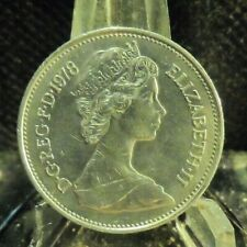 CIRCULATED 1978 5 NEW PENCE UKCOIN (72419).....FREE DOMESTIC SHIPPING!!!!!!