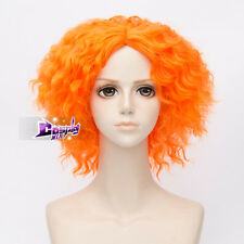 Light Orange Short Curly Hair Basic Cool Anime Cosplay Wig + Cap Heat Resistant