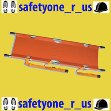 Stretcher Aluminium Alloy Emergency Pole Foldable Stretcher with carry bag.
