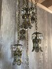 Vintage 5 Pendant Hanging Light Hollywood Regency Swag Lamp