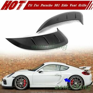Fit For Porsche 981 GT4 Boxster Cayman GTS Side Air Intakes Vents Fin Grilles 16