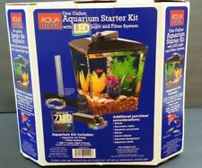 Aqua Culture One Gallon Aquarium Starter Kit w/LED Light & Filter System NEW!