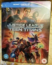 JUSTICE LEAGUE vs TEEN TITANS Blu-Ray U.K. Exclusive Limited Edition STEELBOOK