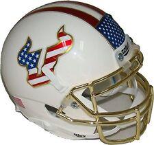 South Florida Bulls Alternate Red White Blue Chrome Schutt Authentic Mini Helmet