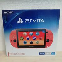 Sony PlayStation PS Vita Slim NEON ORANGE Slim PCH-2000 ZA24 Game Console