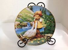"""Vintage M.I Hummel Gentle Friends Plate Collection """"Goose Girl"""" Painted Plate"""