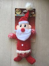 X'MAS DOG PLUSH SQUEAKY TOY - SANTA 31CM*20CM