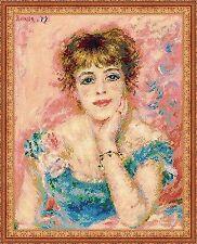 Counted Cross Stitch Kit RIOLIS - PORTRAIT OF JEANNE SAMARI paintings by Renoir