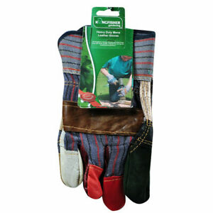 KINGFISHER Heavy Duty Mens Leather Gardening/Work/Rigger Gloves. Extra Durable.