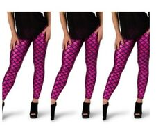 Hot Pink Mermaid Leggings Size Medium