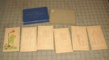 Vtg PreZipcode EVER-READY Extra Plaques with Color-In 6x3.5 Cardboard Post Cards